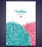 Μοντέρνο πρότυπο καρτών γαμήλιας πρόσκλησης με Στοκ Εικόνες