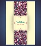 Μοντέρνο πρότυπο καρτών γαμήλιας πρόσκλησης με Στοκ φωτογραφία με δικαίωμα ελεύθερης χρήσης