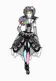μοντέρνο σκίτσο φορεμάτων Στοκ εικόνες με δικαίωμα ελεύθερης χρήσης