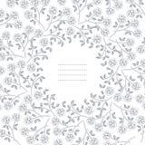Μοντέρνο στρογγυλό πλαίσιο με τα τριαντάφυλλα Στοκ φωτογραφία με δικαίωμα ελεύθερης χρήσης