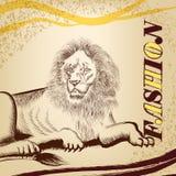 Μοντέρνο υπόβαθρο μόδας με το λιοντάρι Στοκ φωτογραφία με δικαίωμα ελεύθερης χρήσης