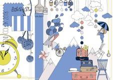 Μοντέρνο χρώμα σκίτσο Στοκ φωτογραφία με δικαίωμα ελεύθερης χρήσης