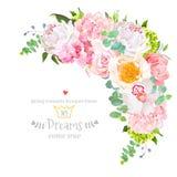 Μοντέρνο floral ημισελινοειδές διανυσματικό πλαίσιο σχεδίου ελεύθερη απεικόνιση δικαιώματος