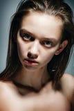 Μοντέλο μόδας με μακρυμάλλη Στοκ φωτογραφίες με δικαίωμα ελεύθερης χρήσης