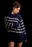 Μοντέλο μόδας στο Μαύρο Στοκ Εικόνα