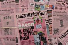 ΜΟΝΤΕΝΑ, ΙΤΑΛΙΑ, το Μάιο του 2017 - διαφημιστική επιτροπή για Giro δ ` Ιταλία, αθλητικός ανταγωνισμός Στοκ φωτογραφίες με δικαίωμα ελεύθερης χρήσης