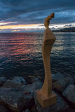 ΜΟΝΤΡΈ, ΕΛΒΕΤΙΑ ΕΥΡΩΠΗ - 14 ΣΕΠΤΕΜΒΡΊΟΥ: Άγαλμα σύγχρονης τέχνης Στοκ εικόνα με δικαίωμα ελεύθερης χρήσης