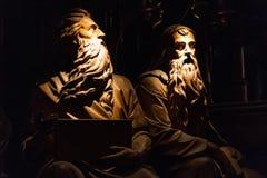 ΜΟΝΤΡΕΑΛ, ΚΕΜΠΕΚ, ΚΑΝΑΔΑΣ - 21 ΜΑΐΟΥ 2018: Αριθμοί αγαλμάτων μέσα του βασιλική-καθεδρικού ναού της Notre-Dame de Κεμπέκ στοκ εικόνες