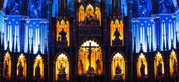 ΜΟΝΤΡΕΑΛ, ΚΕΜΠΕΚ, ΚΑΝΑΔΑΣ - 21 ΜΑΐΟΥ 2018: Εσωτερικό του βασιλική-καθεδρικού ναού της Notre-Dame de Κεμπέκ  Πόλη του Κεμπέκ, Κεμπ στοκ φωτογραφίες με δικαίωμα ελεύθερης χρήσης