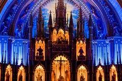 ΜΟΝΤΡΕΑΛ, ΚΕΜΠΕΚ, ΚΑΝΑΔΑΣ - 21 ΜΑΐΟΥ 2018: Εσωτερικό του βασιλική-καθεδρικού ναού της Notre-Dame de Κεμπέκ  Πόλη του Κεμπέκ, Κεμπ στοκ εικόνα με δικαίωμα ελεύθερης χρήσης