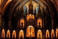 ΜΟΝΤΡΕΑΛ, ΚΕΜΠΕΚ, ΚΑΝΑΔΑΣ - 21 ΜΑΐΟΥ 2018: Εσωτερικό του βασιλική-καθεδρικού ναού της Notre-Dame de Κεμπέκ  Πόλη του Κεμπέκ, Κεμπ στοκ φωτογραφία με δικαίωμα ελεύθερης χρήσης