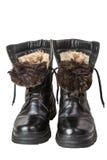 Μονωμένες μπότες αγώνα που απομονώνονται στο άσπρο υπόβαθρο Στοκ Εικόνες