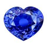 Μονωμένη μπλε πέτρα πολύτιμων λίθων στη μορφή της καρδιάς στο άσπρο υπόβαθρο Στοκ φωτογραφίες με δικαίωμα ελεύθερης χρήσης