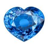 Μονωμένη πέτρα πολύτιμων λίθων στη μορφή της καρδιάς στο άσπρο υπόβαθρο Στοκ εικόνες με δικαίωμα ελεύθερης χρήσης