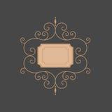 Μονόγραμμα γραμμών μονόγραμμα προτύπων Μονόγραμμα πολυτέλειας Στοκ Φωτογραφίες