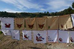 Μορέλια, Μεξικό 15 Ιανουαρίου 2017: Τάπητες για την πώληση Στοκ Εικόνες