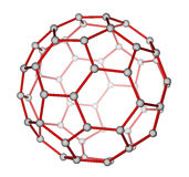 Μοριακή δομή Fullerene C60 ελεύθερη απεικόνιση δικαιώματος