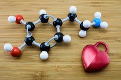 Μοριακή δομή ντοπαμίνης Στοκ εικόνα με δικαίωμα ελεύθερης χρήσης