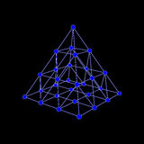 Μοριακή δομή υπό μορφή tetrahedron Στοκ φωτογραφία με δικαίωμα ελεύθερης χρήσης