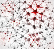 μοριακή δομή ανασκόπησης Στοκ φωτογραφία με δικαίωμα ελεύθερης χρήσης