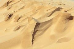 Μορφές άμμου που δημιουργούνται από τον αέρα στοκ εικόνα με δικαίωμα ελεύθερης χρήσης