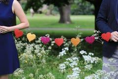 Μορφές αγάπης σε μια σειρά Στοκ Εικόνα
