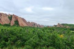 Μορφές δασώδους περιοχής και βράχου κοιλάδων Roxborough Στοκ Εικόνες