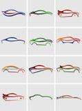 Μορφές αυτοκινήτων για τα λογότυπα Στοκ φωτογραφίες με δικαίωμα ελεύθερης χρήσης