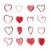 Μορφές καρδιών αγάπης διακοσμητική ημέρα βαλεντίνων καλή Απεικόνιση αποθεμάτων