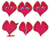 μορφές καρδιών Στοκ Εικόνα