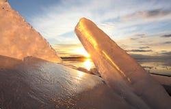 Μορφές πάγου Στοκ Φωτογραφίες