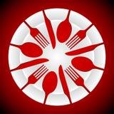 Μορφές πιάτων και μαχαιροπήρουνων Στοκ Φωτογραφία