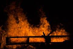 Μορφές στην πυρκαγιά Στοκ Εικόνες