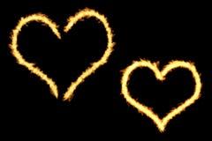 Μορφές φλογών καρδιών Στοκ φωτογραφίες με δικαίωμα ελεύθερης χρήσης