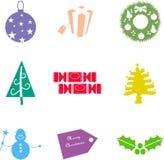 μορφές Χριστουγέννων διανυσματική απεικόνιση