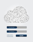 Μορφή άδειας εισόδου υπολογισμού σύννεφων Στοκ φωτογραφία με δικαίωμα ελεύθερης χρήσης