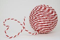 μορφή αγάπης καρδιών σκοιν& Στοκ Εικόνα
