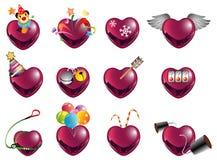 μορφή αγάπης red2 Στοκ Εικόνα