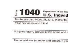 1040,1120,1065 μορφή αμερικανικού φόρου/φορολογική έννοια Στοκ Φωτογραφίες