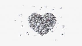 Μορφή ανθρώπων ενός σημαδιού καρδιών απεικόνιση αποθεμάτων