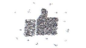 Μορφή ανθρώπων του ομοειδούς σημαδιού απεικόνιση αποθεμάτων