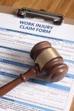 Μορφή αξίωσης τραυματισμών εργασίας Στοκ Φωτογραφίες