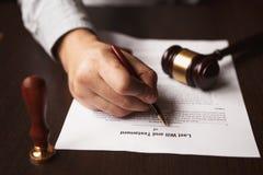 Μορφή διαταγμάτων διαζυγίου Στοκ Φωτογραφίες