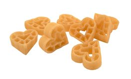 μορφή ζυμαρικών καρδιών Στοκ Φωτογραφία