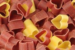 μορφή ζυμαρικών καρδιών Στοκ φωτογραφίες με δικαίωμα ελεύθερης χρήσης