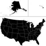 μορφή ΗΠΑ Στοκ Φωτογραφία