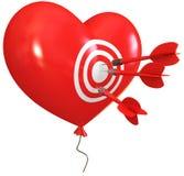 μορφή καρδιών μπαλονιών Στοκ εικόνες με δικαίωμα ελεύθερης χρήσης