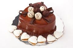 μορφή καρδιών σοκολάτας &kapp στοκ εικόνα