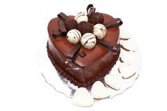 μορφή καρδιών σοκολάτας &kapp στοκ φωτογραφίες