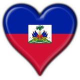 μορφή καρδιών της Αϊτής σημαιών κουμπιών ελεύθερη απεικόνιση δικαιώματος